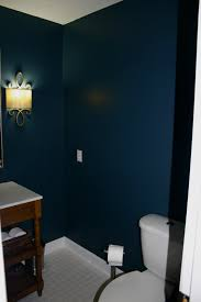 Navy Blue Bathroom by Words With The Williams Half Bath Reveal