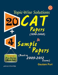 topic wise solutions 20 cat papers u0026 4 sample papers including