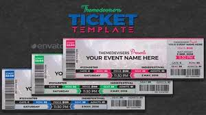 11 concert ticket templates in psd for photoshop