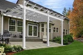 Large Brick Patio Design With 12 X 16 Cedar Pergola Outdoor by Amazon Com Valencia 12 U0027 X 16 U0027 Attached Vinyl Pergola Garden