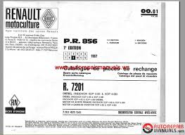 renault r7201 parts catalogue auto repair manual forum heavy