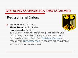 größte stadt deutschlands fläche deutschland und die 16 bundesländer ppt herunterladen