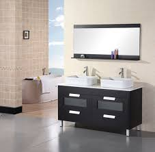 Bathroom Vanity With Vessel Sink by Adorna 55 Inch Double Sink Vanity Set Composite Stone Top