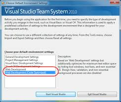 visual studio reset application settings scottgu s blog code optimized web development profile vs 2010 and