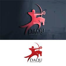 desain kaos archery sribu logo design logo design for daqu horseback archery