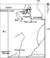 Cedar City Utah Map by Early Devonian Emsian Acanthodian Faunas Of The Western Usa