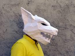 digital halloween mask make your own werewolf mask papercraft werewolf halloween