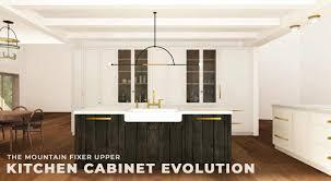 fixer blue kitchen cabinets mountain fixer the kitchen cabinet evolution emily henderson