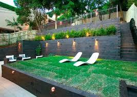 Sloping Garden Ideas Photos Garden Ideas For Sloping Backyards Deck At Back Of Yard