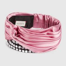 silk headband silk headband with crystals gucci women s headbands 4939173g1166800