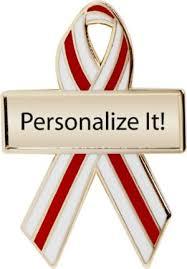 custom awareness ribbons 69 best custom ribbons cause awareness ribbon pins images on
