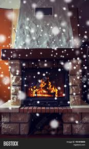 winter christmas warmth fire and coziness concept close up of