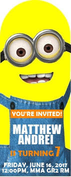 diy minion invitations diy despicable me minions bookmark birthday invitation
