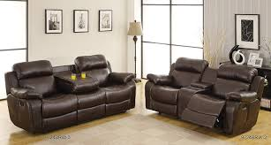 Sectional Sofas With Recliners And Cup Holders Amazon Com Homelegance Marille Reclining Loveseat W Center