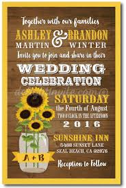 jar wedding invitations rustic sunflower jar wedding invitations di 5003
