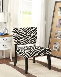 funiture zebra accent chairs in short black wooden legs over