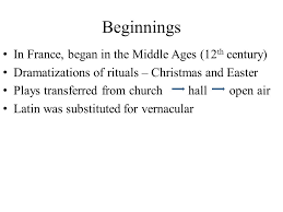 easter plays for church le théàtre beginnings in began in the middle ages 12 th