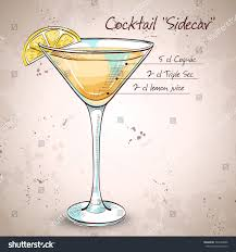 cocktail martini sidecar cocktail martini glass stock illustration 384463006