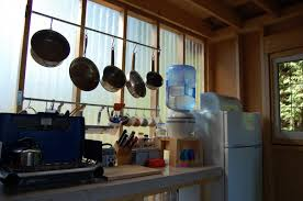 tiny rustic cabin camp kitchen small house bliss