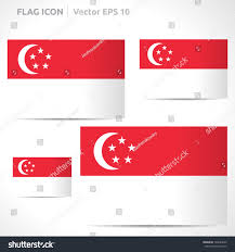 Singapore Flag Icon Singapore Flag Template Vector Symbol Design Stock Vektorgrafik