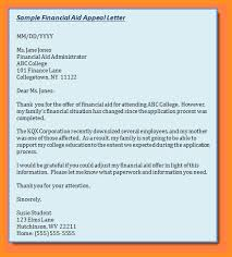 9 financial aid request letter sample appication letter