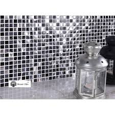 Glass And Stone Backsplash Tile by Tst Glass Stone Tiles Black Dark Grey Squared Grid Marble Kitchen