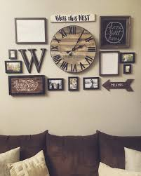 gallery wall with handmade pallet clock http hubz info 98 this