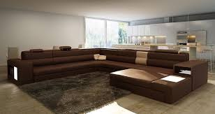 Brown Leather Sectional Sofa With Chaise Brown Large Sectional Awesome Homes Beautiful Living Room With