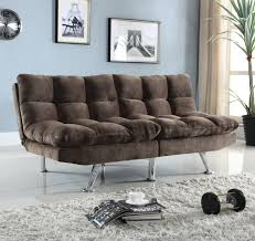 Plush Sofa Bed Coaster 505127 Plush Sofa Bed With Padded Velvet In Brown Local