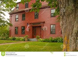 old new england colonial house royalty free stock photo image