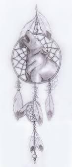 catcher drawings howling wolf dreamcatcher by frostdanger