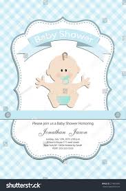 Baby Shower Invitation Cards Baby Boy Baby Shower Invitation Card Stock Vector 214669900
