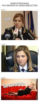 Natalia Poklonskaya Meme - natalia poklonskaya the weapon of mass seduction by me the focker