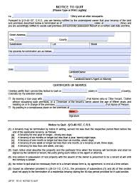 Notice Of Termination Of Agreement by Free Colorado Notice To Quit Forms Eviction Pdf Word Doc