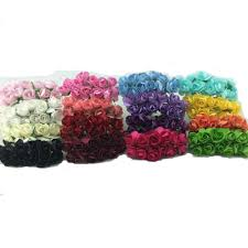 bouquet en papier 144pcs lot handmade mulberry paper flower bouquet wire stem