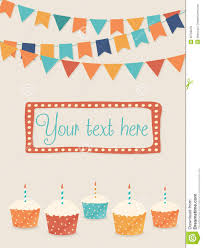 free birthday cards to text vector birthday card with flags and cupcakes royalty free