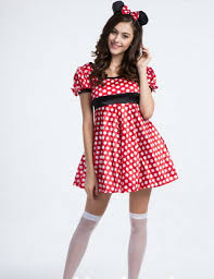 Minnie Mouse Halloween Costume Adults Compare Prices Minnie Mouse Red Dress Shopping Buy