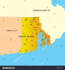 Map Of Ri Vector Color Map Rhode Island State Stock Vector 40291837