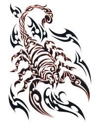 and black tribal scorpion tattoo design