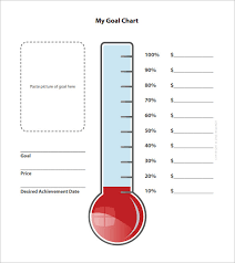 Free Fundraising Thermometer Template Goal Chart Template 8 Free Thermometer For Fundraising Template