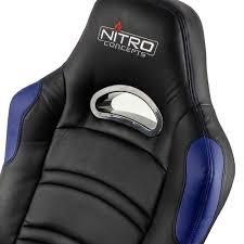 Comfy Gaming Chairs Nitro Concepts C80 Comfort Gaming Stuhl Schwarz Blau