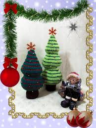 Free Crochet Patterns For Christmas Tree Ornaments Crochet Christmas Trees Pattern Danielasneedleart