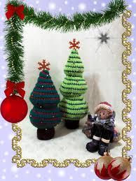 crochet christmas trees pattern danielasneedleart