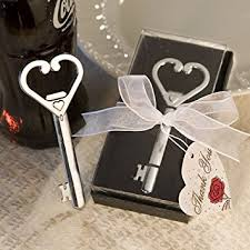 key bottle opener wedding favors heart accented key bottle opener favor set of 50