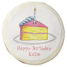 personalized birthday candles birthday cake cookies zazzle