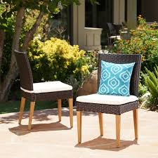 santa barbara outdoor wicker dining chair with cushion set of 2 by