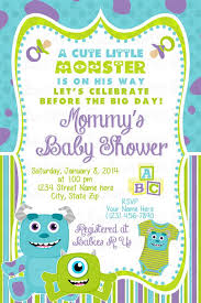 monsters inc baby shower ideas monsters inc baby shower invitations dhavalthakur