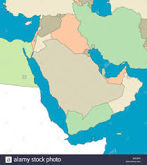 The Middle East Map by Stylized Map Of The Middle East Region No Captions All On White