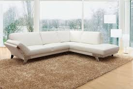 divani casa lidia modern white italian leather sectional sofa