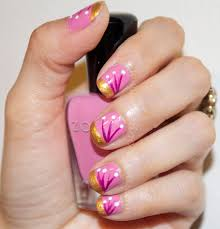 spring inspired nail art step by step tutorial thedocndiva